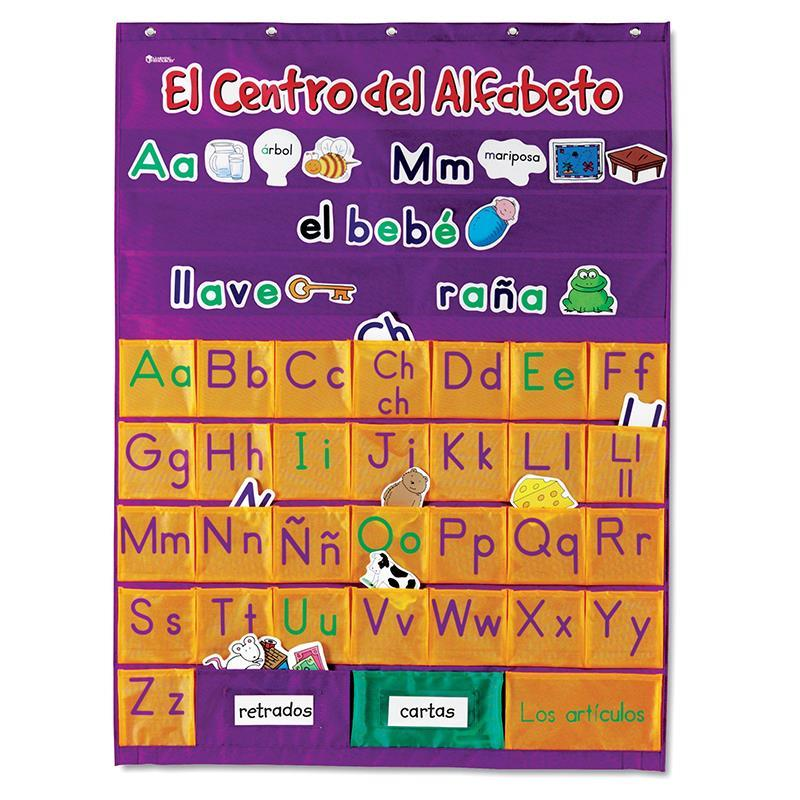 SPANISH ALPHABET POCKET CHART EDRLER2529