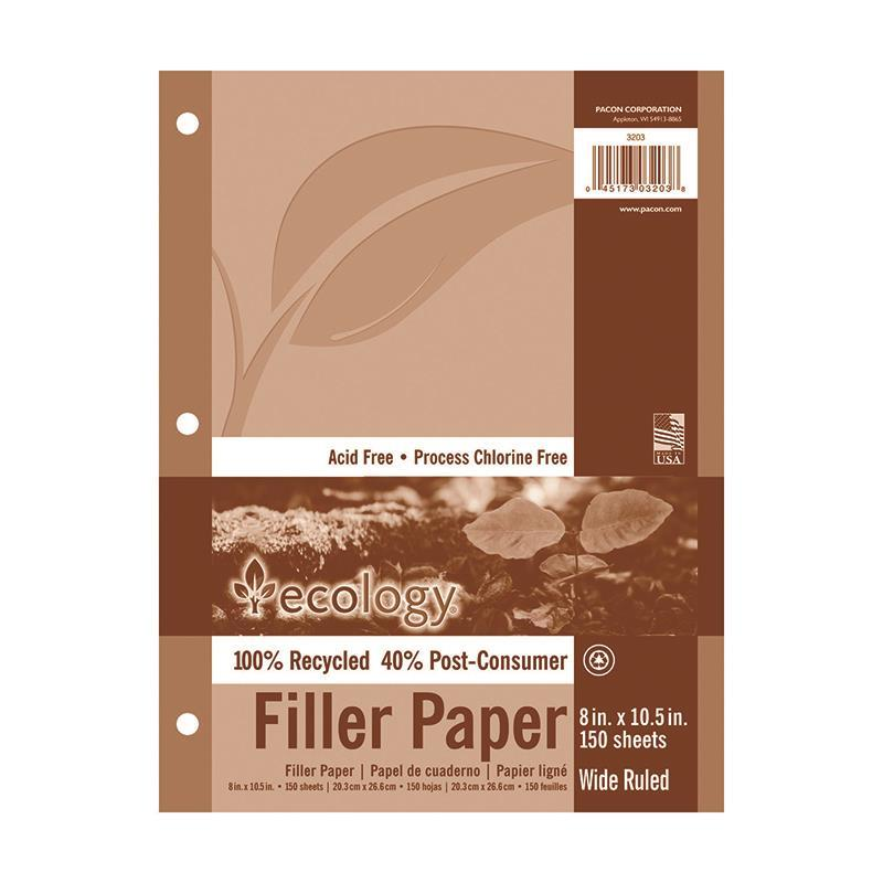 Pacon Corporation ECOLOGY RECYCLED FILLER PAPER PACK at Sears.com