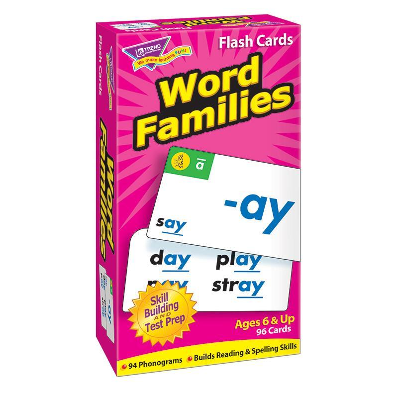 Trend Enterprises Inc. FLASH CARDS WORD FAMILIES 96/BOX at Sears.com