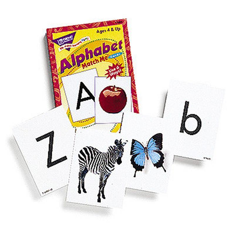 Trend Enterprises Inc. MATCH ME CARDS ALPHABET 52/BOX at Sears.com