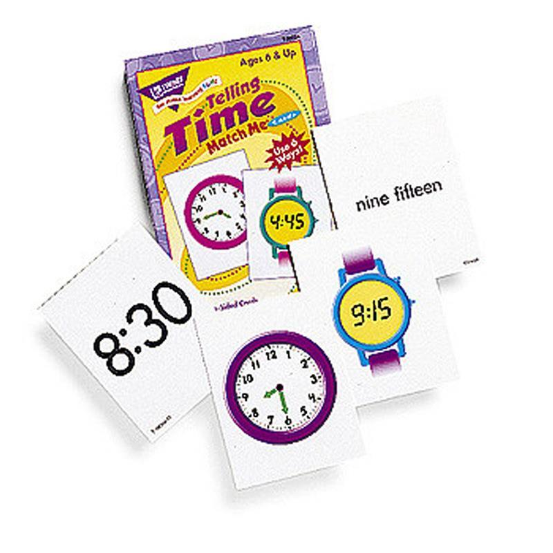 Trend Enterprises Inc. MATCH ME CARDS TELLING TIME 52/BOX at Sears.com